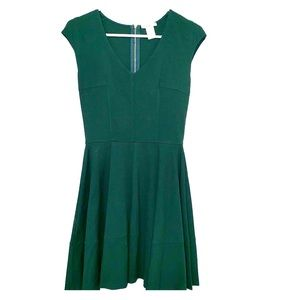 BAR III Green Fit Flare Dress